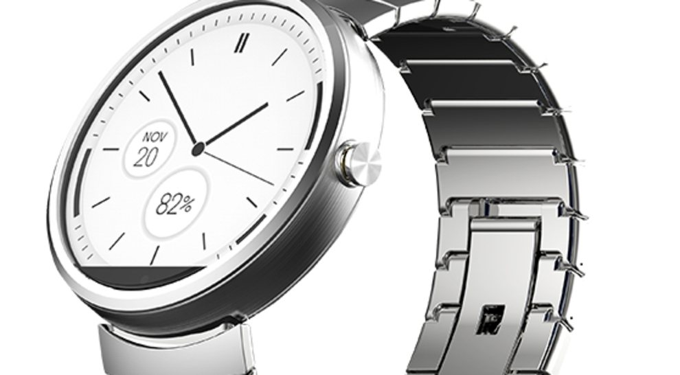Moto 360 With Stainless Steel Strap