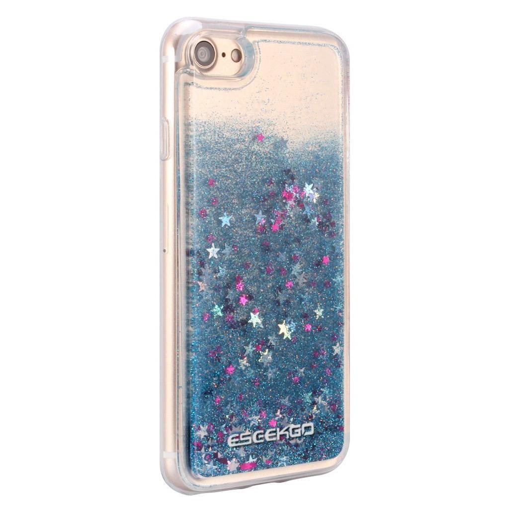 ESEEKGO Floating Liquid Case with Glitter and Stars!