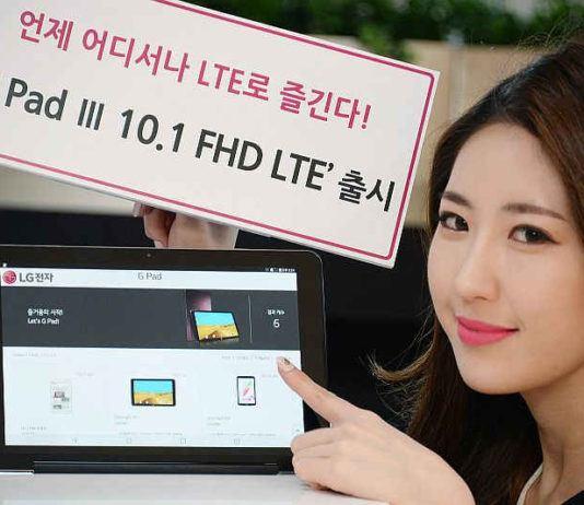 LG G Pad 3 10.1 tablet
