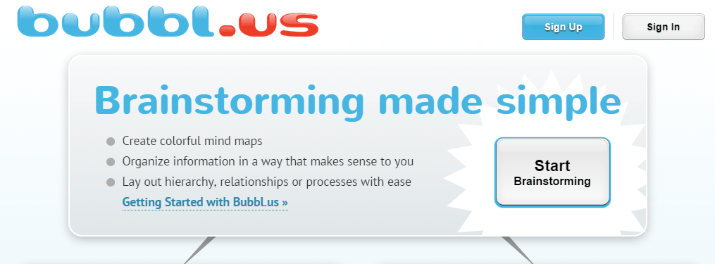 Mind map - Bubbl.us