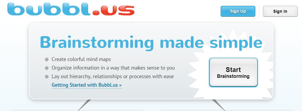 Mind map - Bubbl.us