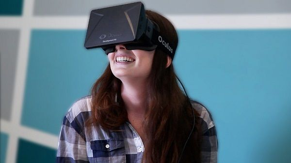 Person Wearing Oculus Rift