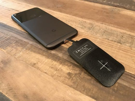 Pixel XL Wireless Charger Adapter Installed