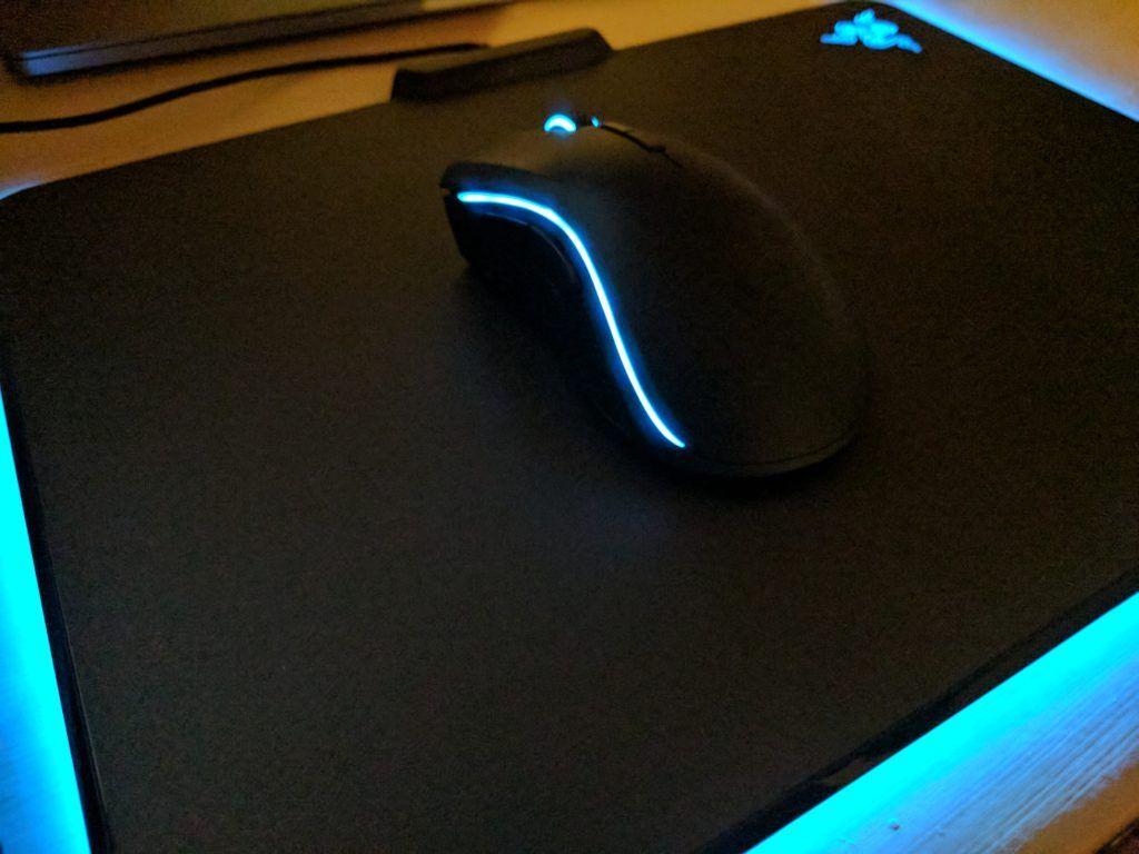 Razer Mamba Chroma Mouse on top of FireFly