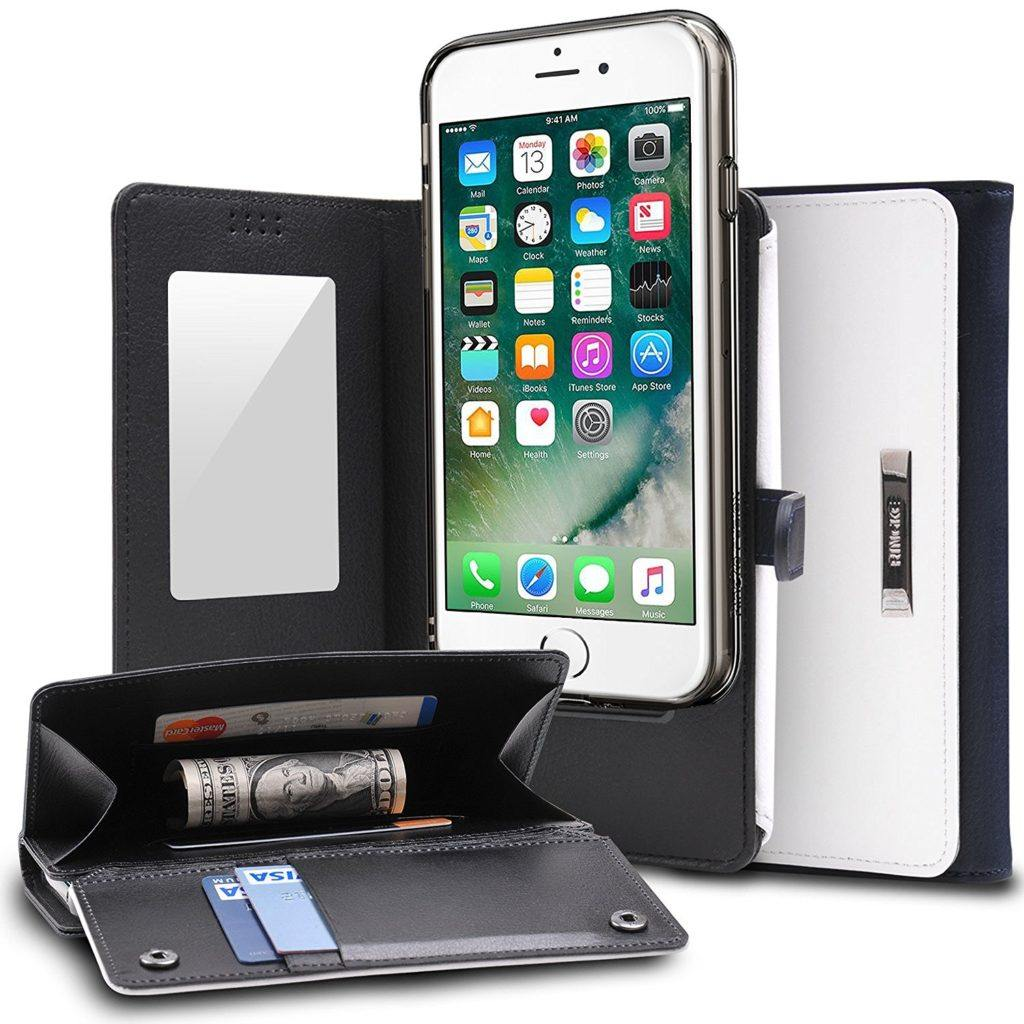 Ringke Wallet Case for iPhone 7 with Mirror and Magnetic Closure