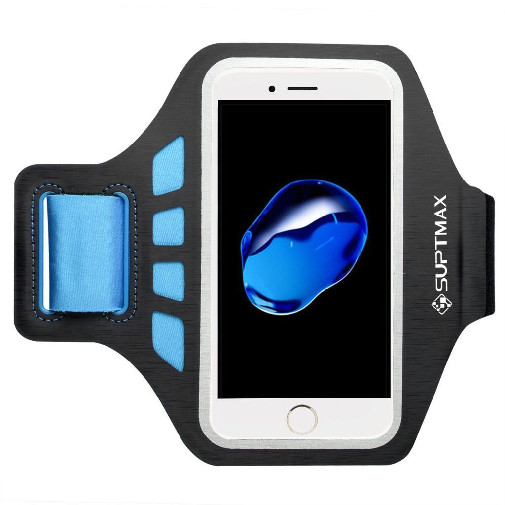 Suptmax Armband iPhone 7 Case that holds a keycard and is washable.